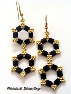 Earrings with tila beads