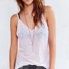Project Social T Tank Soft knit sleeveless tank with low v in front and back and high slits at hips brand new without tags. Urban Outfitters Tops Tank Tops