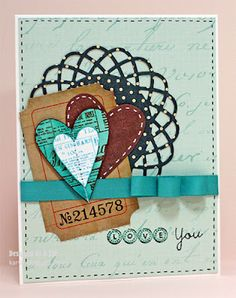 Love the layout and the stitched hearts.  By Kary G