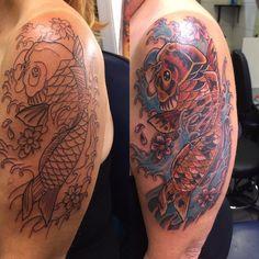 Koi tattoo by fortuna15.deviantart.com on @DeviantArt