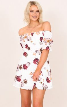 Curious Minds dress in white floral