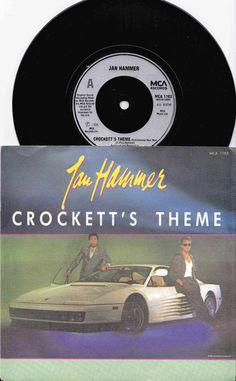 "JAN HAMMER Crockett's Theme 1986 Uk Issue 7"" 45 rpm Vinyl Single Record pop synth electro 80s new wave tv Miami Vice Free s&h"