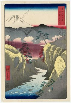 Utagawa Hiroshige Title:Inume Pass in Kai Province (Kai Inume tôge), from the series Thirty-six Views of Mount Fuji (Fuji sanjûrokkei) Date:1858