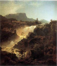 Hans Gude (1825-1903): Tessefossen i Vågå