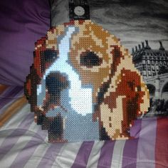 Beagle dog hama perler beads by ainoredbird