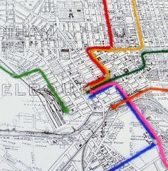 Analogue Art Map of Melbourne