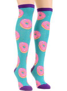 Donuts! Donuts! Donuts! Sprinkle Toes Knee Socks by Socksmith Design, Inc., Socks, Blue