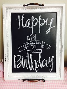 Happy Birthday Chalk Board