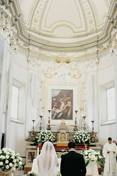 True Amore: Stunning Photos From An Intimate Italian Wedding #refinery29  http://www.refinery29.com/francesca-jean-maurice-italy-wedding#slide22