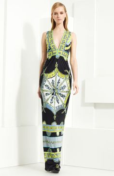 Emilio Pucci Print Jersey Column Gown - I would wear this if I could pull it on, or off!