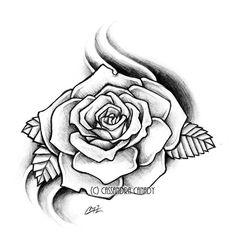 Hand Drawn Rose Collection tattoos ideas Pinterest Hand