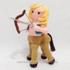 Sagittarius amigurumi pattern by Little Bamboo Handmade Crochet Geek, Crochet Doll Pattern, Cute Crochet, Crochet Dolls, Crochet Patterns, Crochet Stitches, Handmade Dolls Patterns, Doll Patterns, Amigurumi Doll
