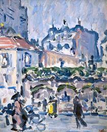 Street Scene, Paris - Samuel Peploe