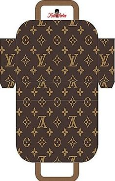 Louis Vuitton Free Printable Purses - several to choose from. Makes a great gift box! Louis Vuitton Free Printable Purses - several to choose from. Makes a great gift box! Box Template Printable, Free Printable, Printable Paper, Paper Toys, Paper Crafts, Cardboard Box Crafts, Foam Crafts, Paper Art, Paper Purse