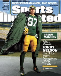 Publication Date: December Illustrated CoverFootball: Portrait of Green Bay Packers wide receiver Jordy Nelson wearing cape durin. Packers Baby, Go Packers, Packers Football, Football Team, Greenbay Packers, Football Stuff, Football Memes, Football Season, Green Bay Packers Fans