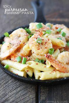 Spicy-Parmesan-Shrimp-Pasta