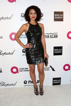 Nathalie Emmanuel Photos Photos - Actress Nathalie Emmanuel attends the 22nd Annual Elton John AIDS Foundation's Oscar Viewing Party on March 2, 2014 in Los Angeles, California. - Elton John AIDS Foundation Oscar Viewing Party — Part 6