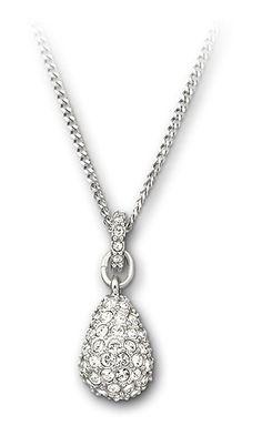 Zilverkleurig collier van het merk Swarovski. Het collier is afgewerkt met echte Swarovski kristallen. Siebel, tja, matig