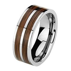 *** LASER ENGRAVING SERVICE *** 8mm Two Line Wood Inlay Cobalt Free Tungsten Carbide COMFORT-FIT Wedding Band Ring for Men and Women (Size 8 to 12) [DETAIL INFORMATION - PLEASE CLICK AND CHECK THE ITEM DESCRIPTION] GoldenMine. $48.00. All tungsten rings include free standard shipping with purchase.. Promptly Packaged with Free Gift Box...Perfect for gift giving.. ****PLEASE NOTE: ENGRAVED ITEMS CANNOT BE RETURNED OR EXCHANGED **please review our item description for details. Tun...
