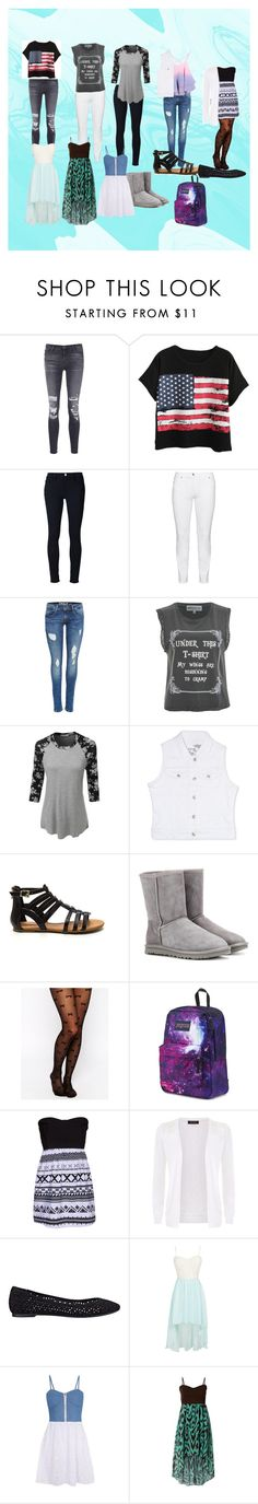 """Beginning of Infinity Shopping #1"" by cherokee-june ❤ liked on Polyvore featuring J Brand, Chicnova Fashion, Frame Denim, Steilmann, Wildfox, LE3NO, Rhythm in Blues, UGG Australia, Leg Avenue and JanSport"