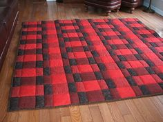 Plaid for Dad Comfort Quilt Pattern | Get ready to snuggle up this winter with this cozy plaid quilt pattern!