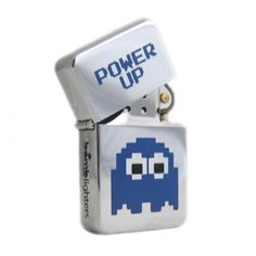 Bomblighter - Pacman Power Up.  Solid windproof metal lighter; Full lifetime guarantee; Comes boxed and in a tin case; Excellent collectors item; Makes an ideal gift! 6cm Tall x 4cm Wide.  For more information please click the link or visit dotcombong.com.