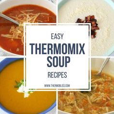 As we ease into the cooler months I'm preparing to stock my freezer with my favourite soups! So I have put together a list of Easy Thermomix Soup Recipes as an easy 'go to' when your looking for something to warm you up this winter. Pumpkin Sweet Potato Soup, Potato Leek Soup, Pumpkin Soup, Corn Soup, Soup Recipes, Dinner Recipes, Cooking Recipes, Savoury Recipes, Yummy Recipes