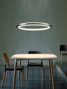 Streamlined futuristic chandelier / lamp (Source? Designer?)