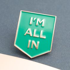 Gilmore Girls Pin - I'm All In Enamel Pin - Gilmore Girls Gift - Girl Boss Pin - Motivation - Teal - Turquoise - Copper - Copper Boom by CopperBoomStudioLtd on Etsy https://www.etsy.com/listing/480886898/gilmore-girls-pin-im-all-in-enamel-pin
