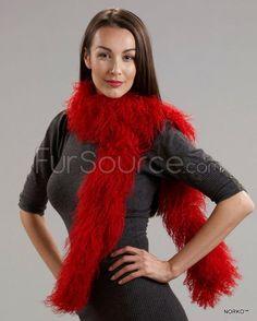 Tibetan Lamb Fur Scarf - Red Mink Jacket, Rabbit Fur Coat, Fur Rug, Fur Blanket, Mink Fur, Plaid Scarf, Lamb, Fur Scarves, Red