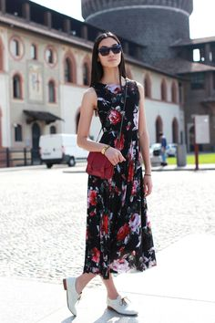 Best Casual Summer Outfits Part 32 Summer Dress Outfits, Casual Winter Outfits, Trendy Outfits, Casual Dresses, Fashion Outfits, Women's Fashion, Milan Fashion, Oxford Shoes Outfit, Ladies Dress Design
