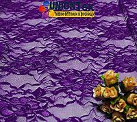 Ткань гипюр стрейчевый фиолетовый