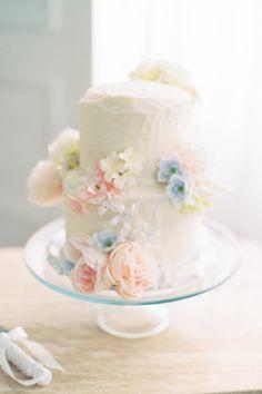 Pastel wedding cake inspiration. Photo: @kaylayestal Pastel Wedding Cakes, Pastel Wedding Colors, Pastel Colour Palette, Pastel Colors, Needle And Thread Wedding Dresses, Toronto Lofts, Wedding Cake Inspiration, Wedding Ideas, Spring Blooms
