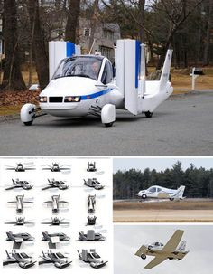 car driving flying vehicle