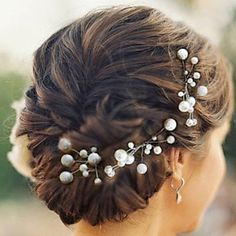 Headpieces Nice Five Pieces Pearls Wedding/Party Hairpins