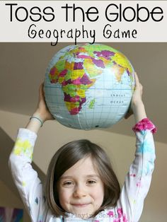 Teach kids geography in a hands on active way thought this gross motor game!
