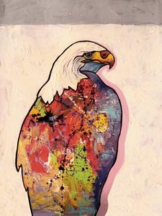 Eagle Painting, Rainbow Warrior, Wildlife Art, First Nations, Tribal Art, Spirit Animal, Bald Eagle, Fine Art America, Clever