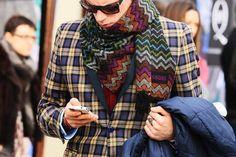 Missoni geometric scarf