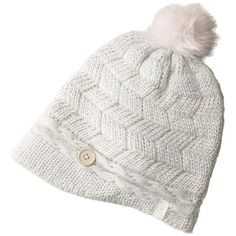 Pistil Emerson (Blue Haze) Beanies (€28) ❤ liked on Polyvore featuring accessories, hats, blue beanie hat, visor beanie, pom pom beanie, slouchy beanie hats and pom pom beanie hat