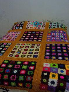 TRICO y CROCHET-madona-mía: Mantas-Colchas en crochet-modelos