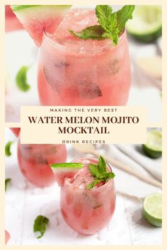 Find easy-to-make comfort food recipes like Healty recipes, dinner recipes and more recipes to make your fantastic food today. Easy Drink Recipes, Nut Recipes, Dinner Recipes, Mocktail Drinks, Watermelon Mojito, Water Melon, Healthy Drinks, Food To Make, Easy Meals