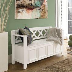 Simpli Home Amherst Wood Storage Entryway Bench & Reviews   Wayfair