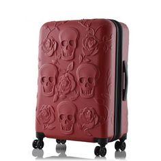 Halloween Shopaholic: Embossed Skull Luggage from IT Luggage