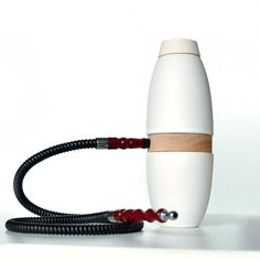Modern design hookah, ceramic design shisha with one hose - Ceramic hookah - white. €99.00, via Etsy.