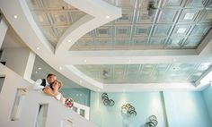 Beautiful ceiling shot at the Metropolis Resort in Eau Claire. Absolutely in love with the color teal!