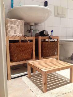 ikea-regal zersägt für unters waschbecken