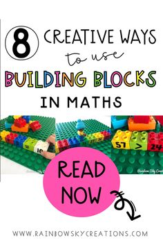 Learning should be fun and accessible to everyone! That is why we love creating hands-on activities with rich learning experiences for kids here at Rainbow Sky Creations. Building blocks are a great resource that all classrooms and homes tend to already have. Read our blog post explaining 8 ways you can use building blocks. #rainbowskycreations Primary Maths, Primary Classroom, Kindergarten Math Activities, Teaching Math, School Resources, Teaching Resources, Teaching Ideas, Early Years Maths, Math Blocks