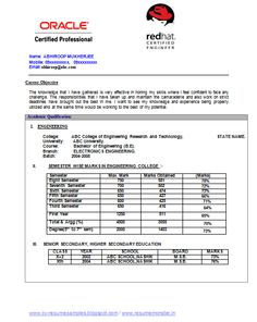 Electronic Engineering Resume (Page 1)