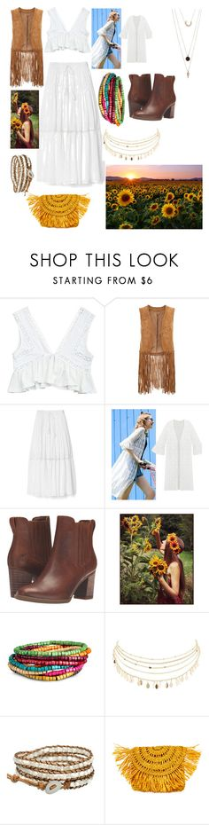 """""""Sunflower Child"""" by brihall80 ❤ liked on Polyvore featuring Monsoon, Gap, Timberland, Charlotte Russe, Mar y Sol and SUGARFIX by BaubleBar"""