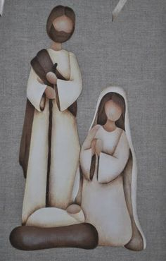 Diy christmas decorations for outside nativity 25 ideas Christmas Nativity Set, Noel Christmas, Christmas Projects, All Things Christmas, Christmas Ornaments, Nativity Sets, Felt Ornaments, Nativity Crafts, Country Paintings